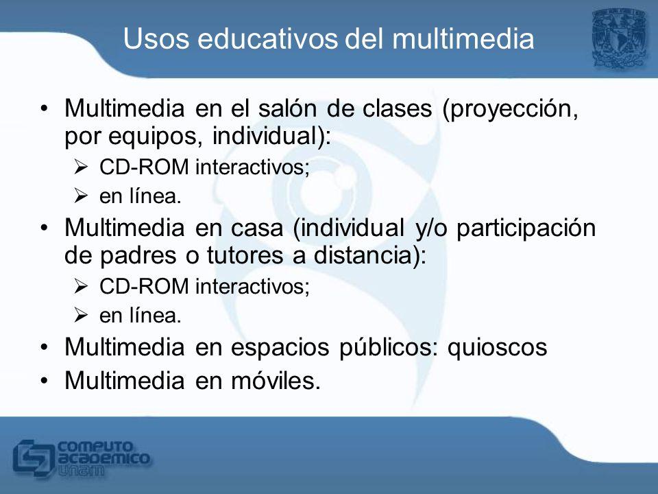 Usos educativos del multimedia