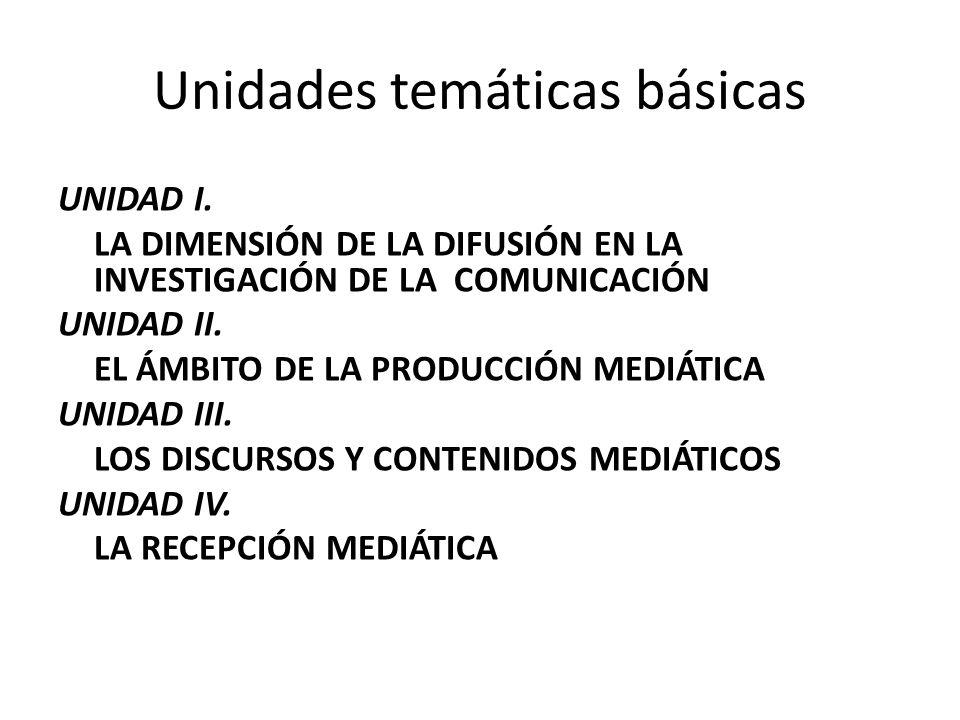 Unidades temáticas básicas