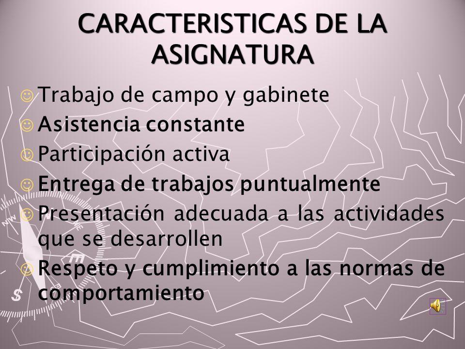 CARACTERISTICAS DE LA ASIGNATURA