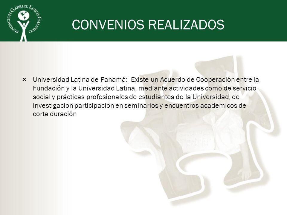 CONVENIOS REALIZADOS