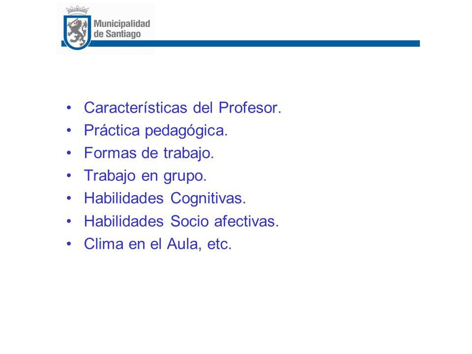Características del Profesor.