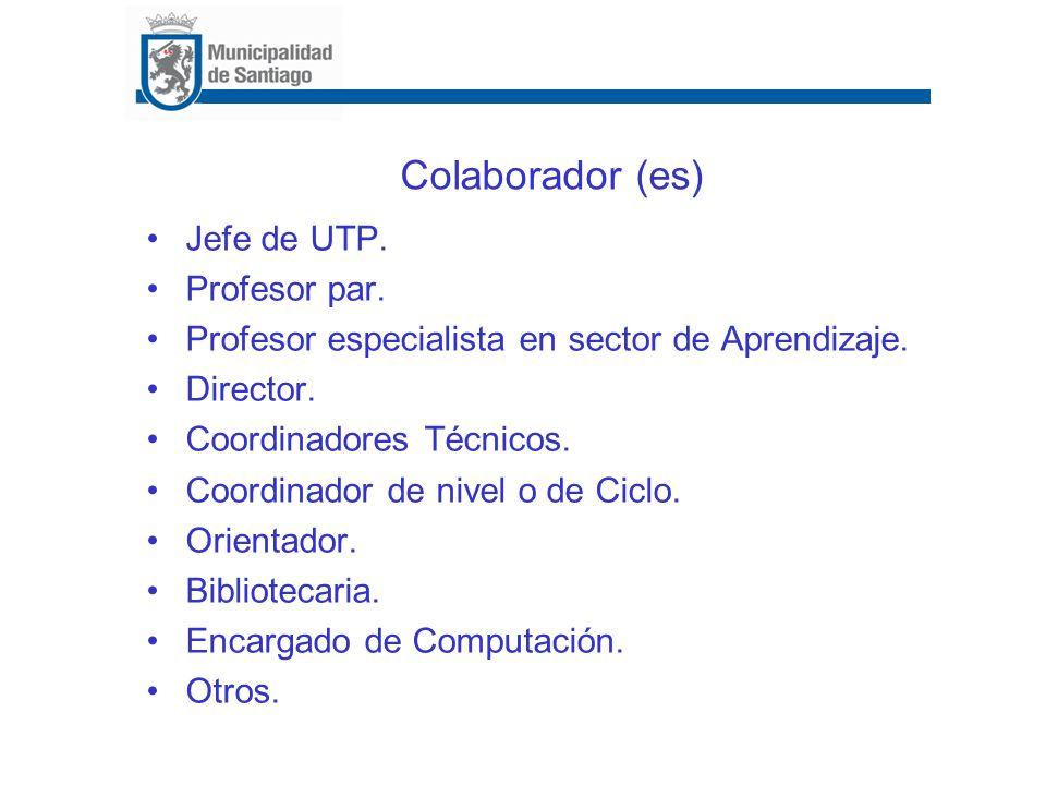 Colaborador (es) Jefe de UTP. Profesor par.
