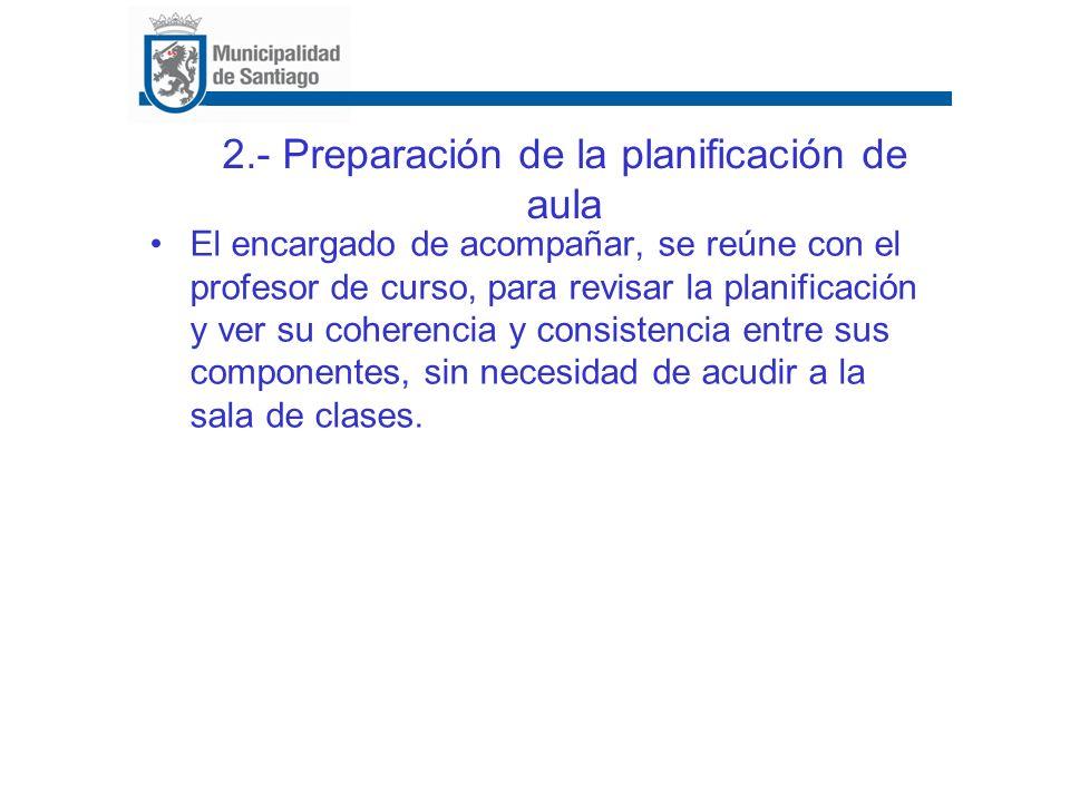 2.- Preparación de la planificación de aula
