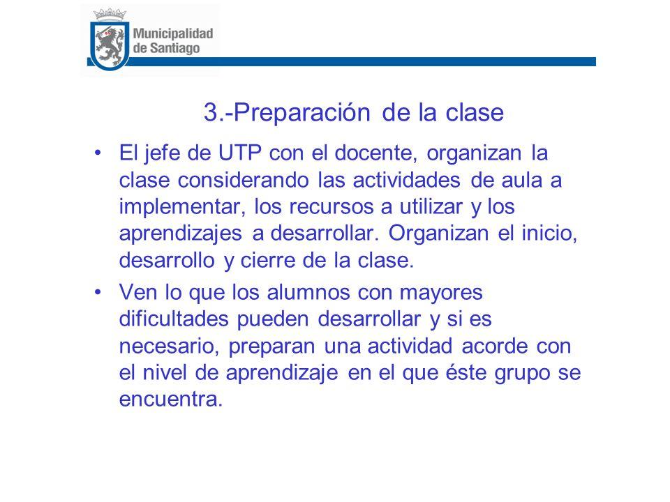 3.-Preparación de la clase