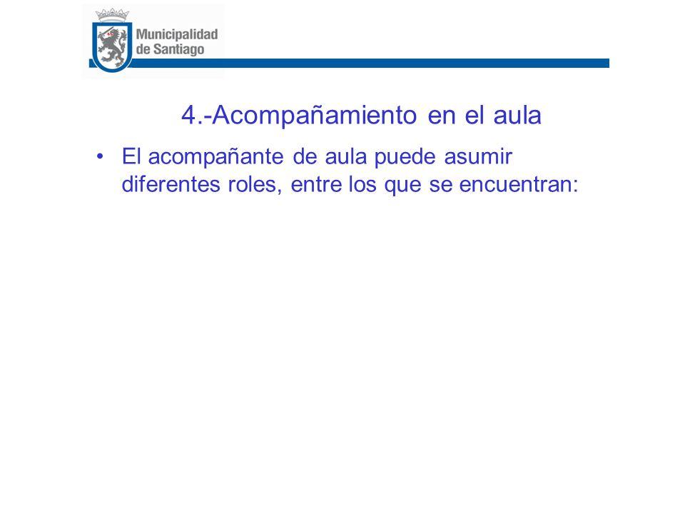 4.-Acompañamiento en el aula