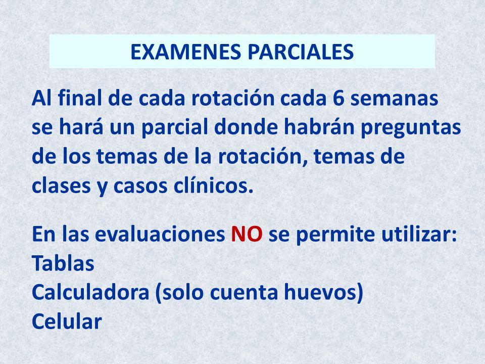 EXAMENES PARCIALES