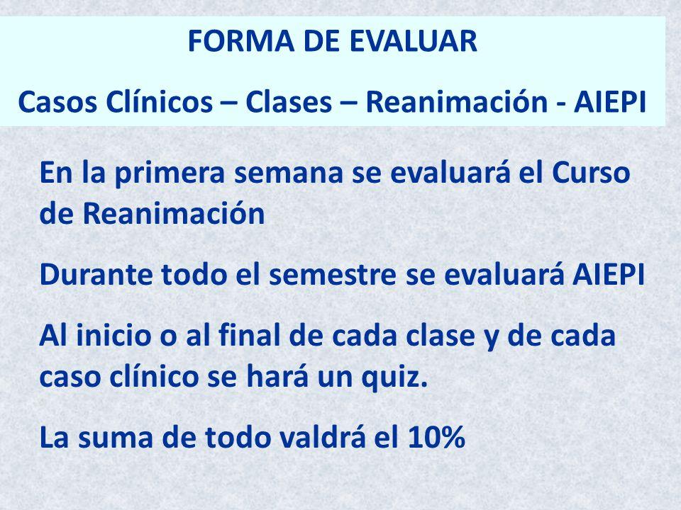 Casos Clínicos – Clases – Reanimación - AIEPI