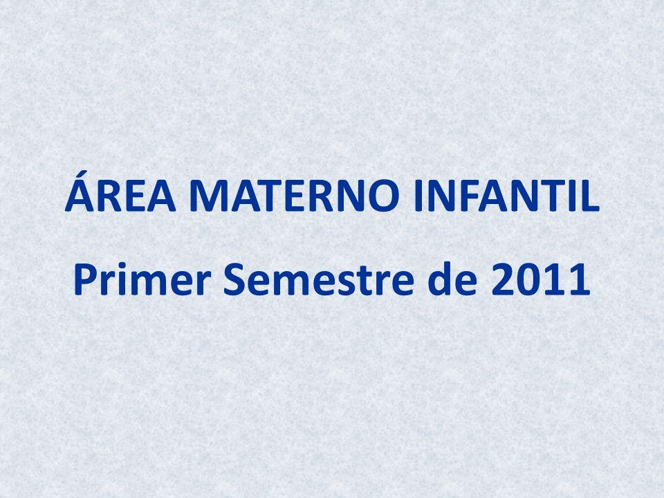 ÁREA MATERNO INFANTIL Primer Semestre de 2011