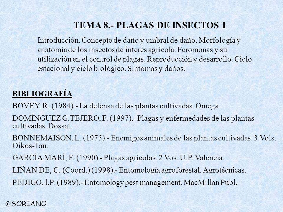 TEMA 8.- PLAGAS DE INSECTOS I