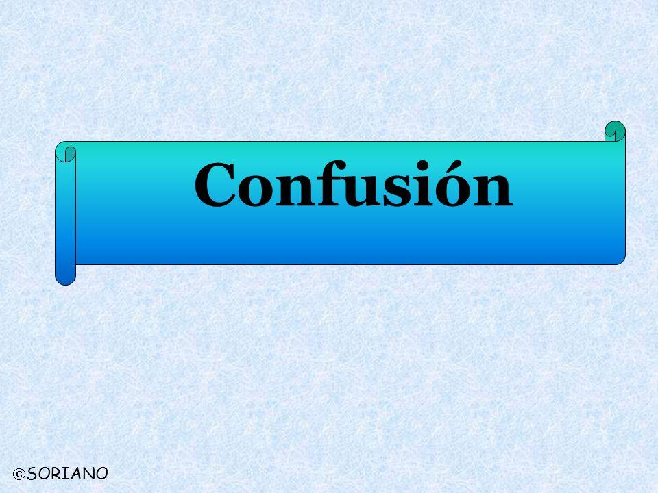 Confusión SORIANO