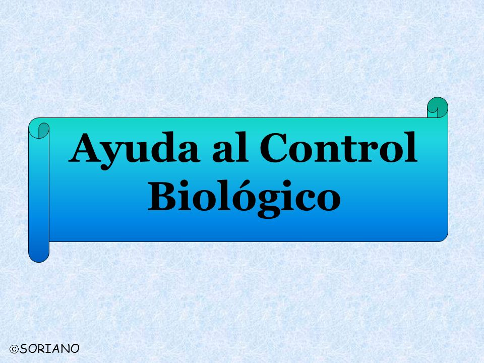Ayuda al Control Biológico