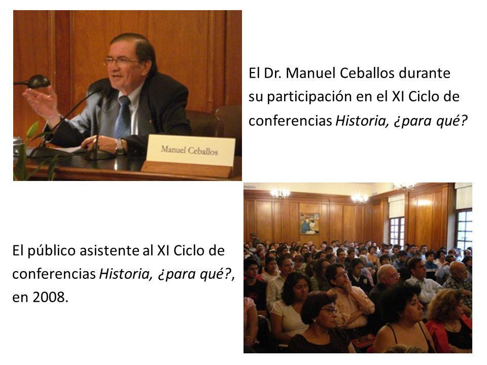 El Dr. Manuel Ceballos durante