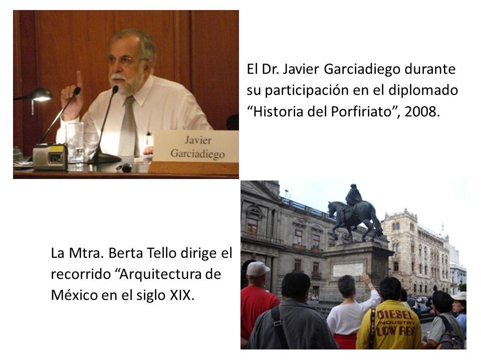 El Dr. Javier Garciadiego durante