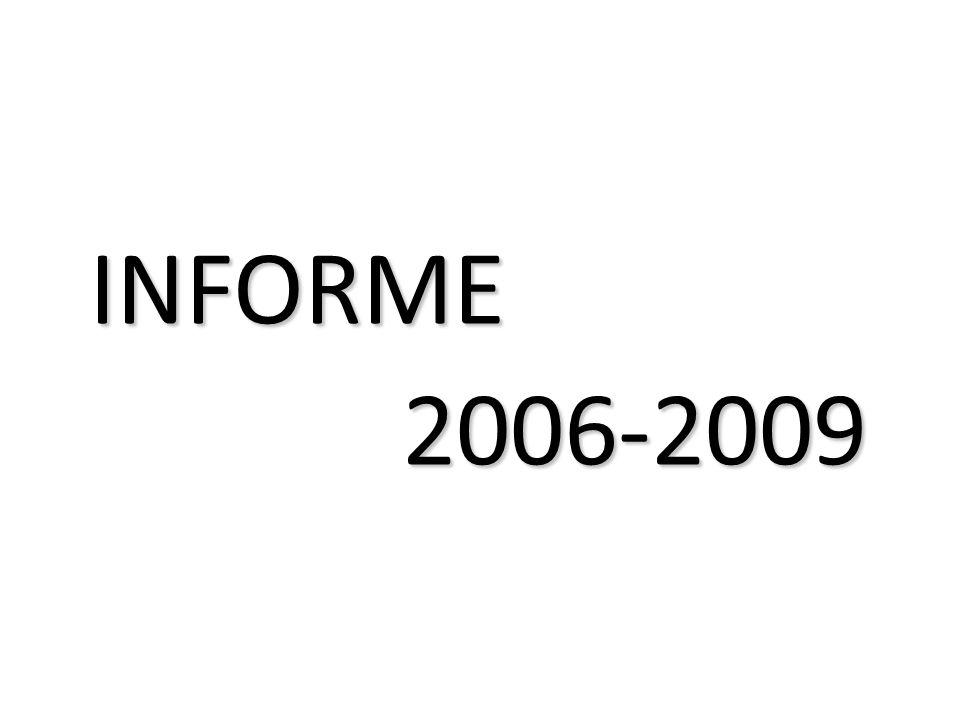INFORME 2006-2009