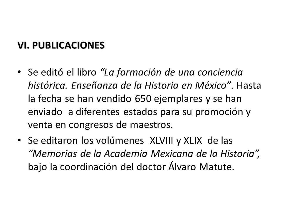 VI. PUBLICACIONES