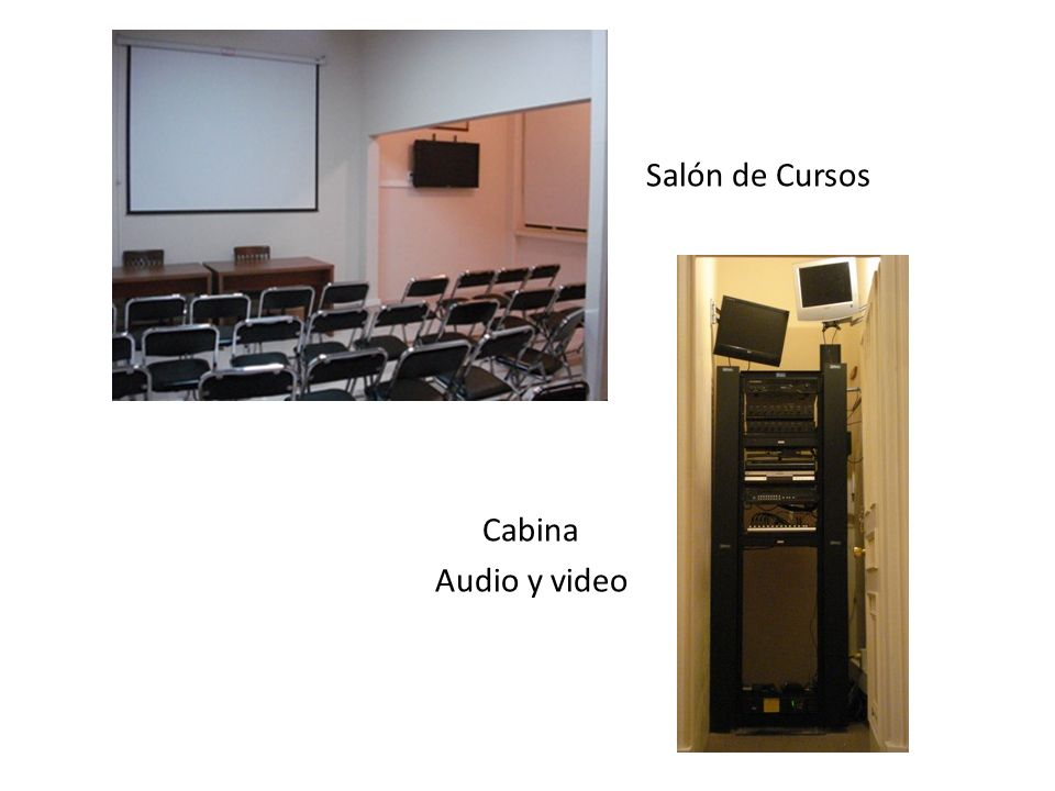 Salón de Cursos Cabina Audio y video
