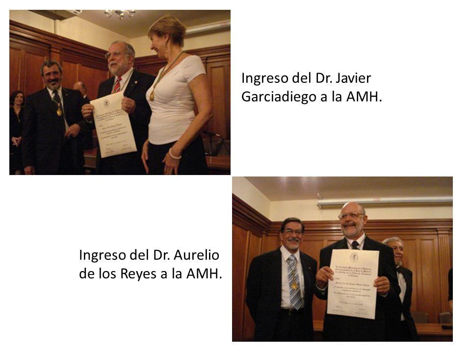 Ingreso del Dr. Javier Garciadiego a la AMH.