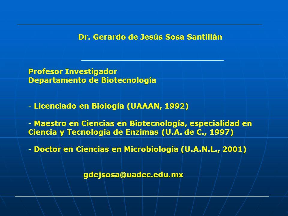 Dr. Gerardo de Jesús Sosa Santillán