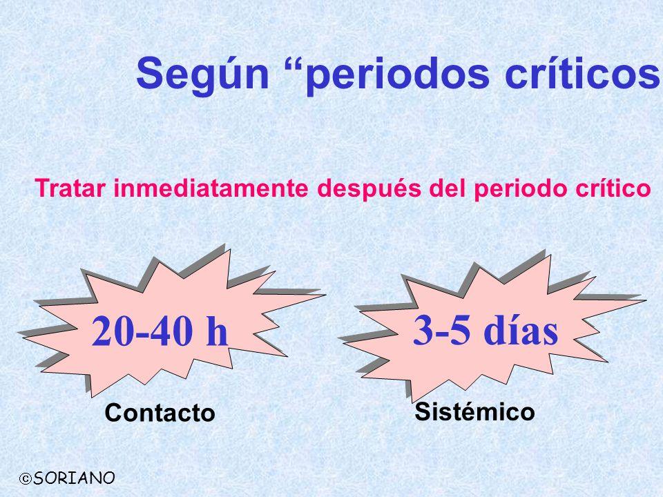 Según periodos críticos