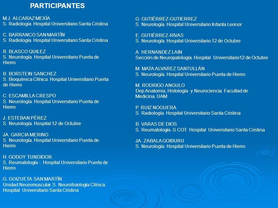 PARTICIPANTES M.J. ALCARAZ MEXÍA