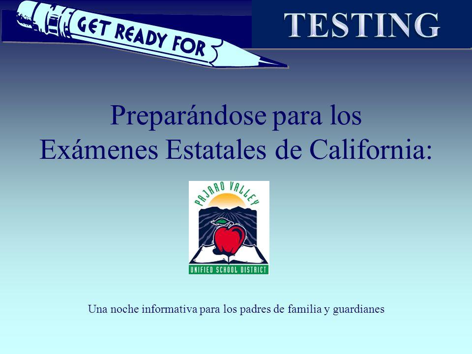 Preparándose para los Exámenes Estatales de California: