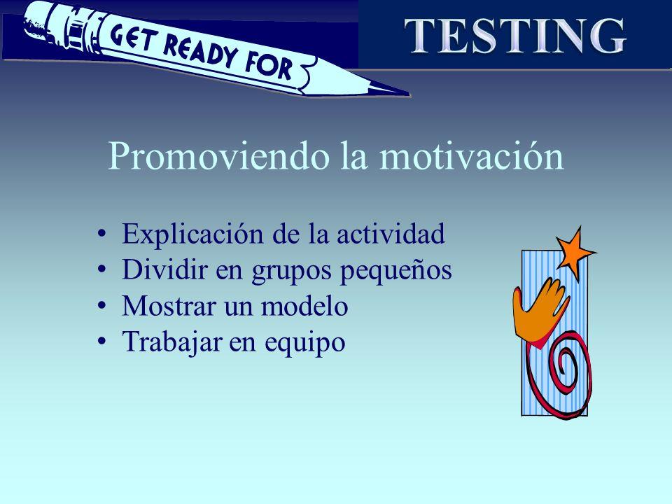 Promoviendo la motivación