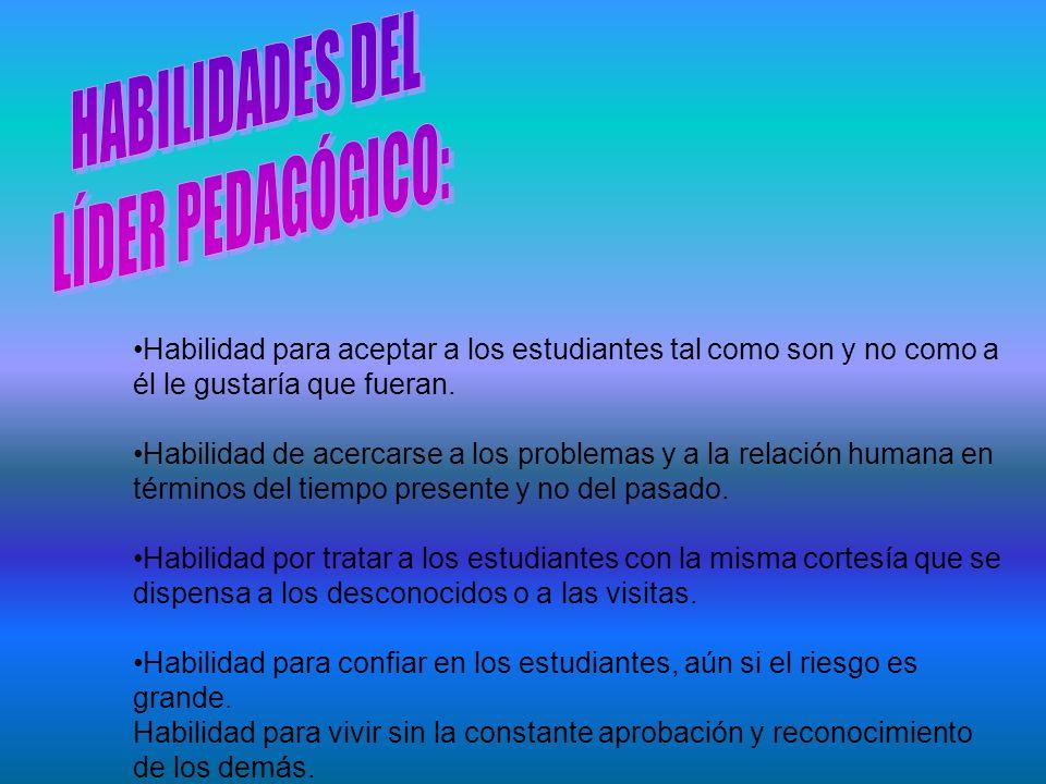 HABILIDADES DEL LÍDER PEDAGÓGICO:
