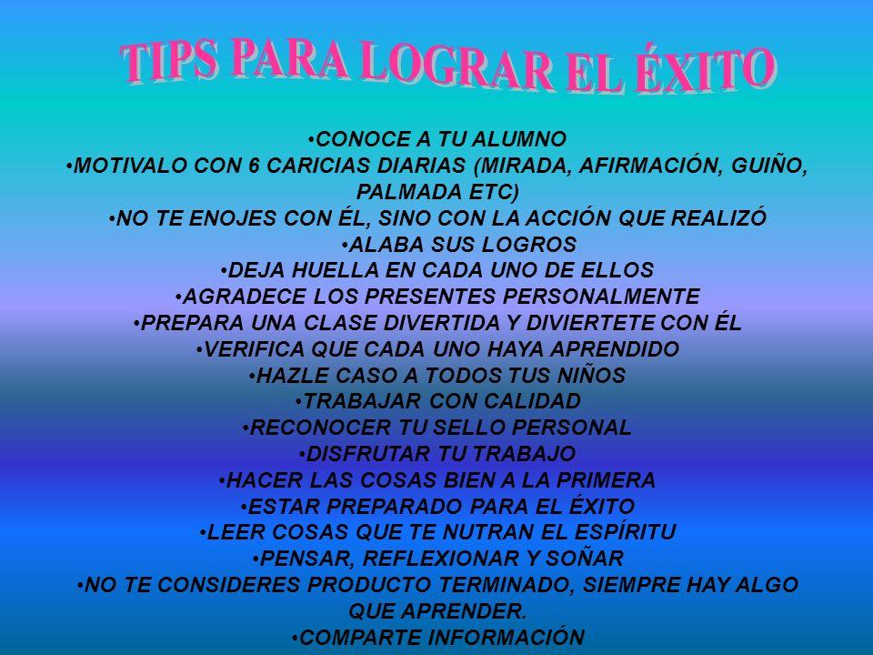 TIPS PARA LOGRAR EL ÉXITO