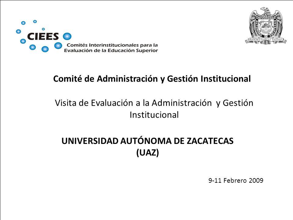 Visita de Evaluación a la Administración y Gestión Institucional