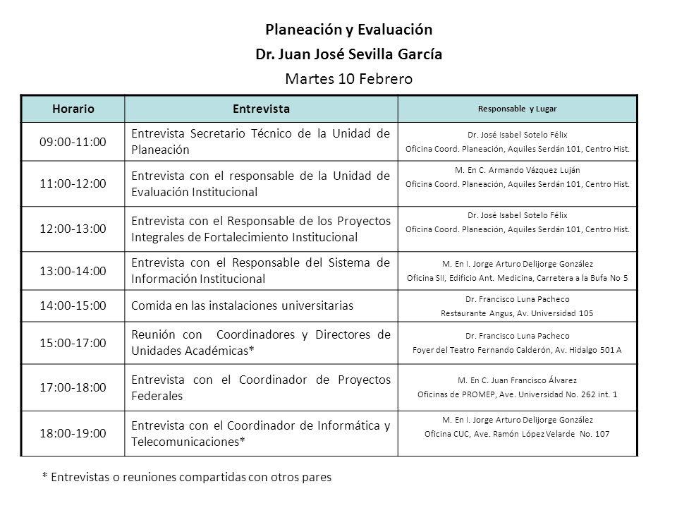 Planeación y Evaluación Dr. Juan José Sevilla García