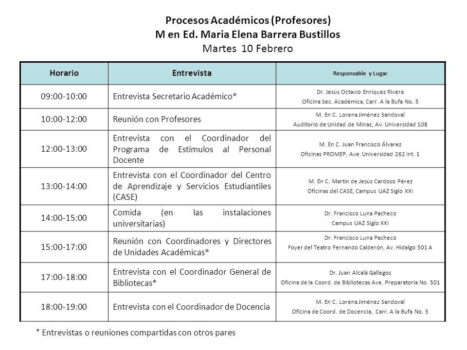 Procesos Académicos (Profesores)