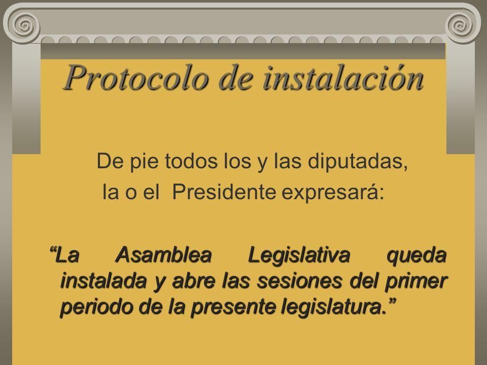 Protocolo de instalación