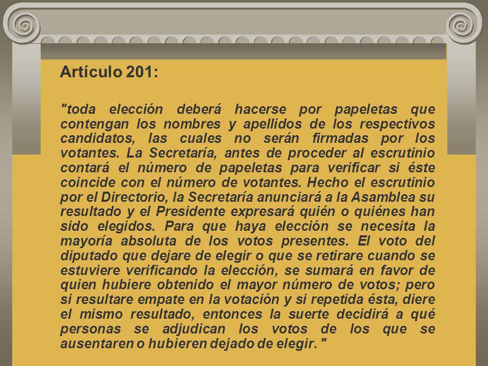 Artículo 201: