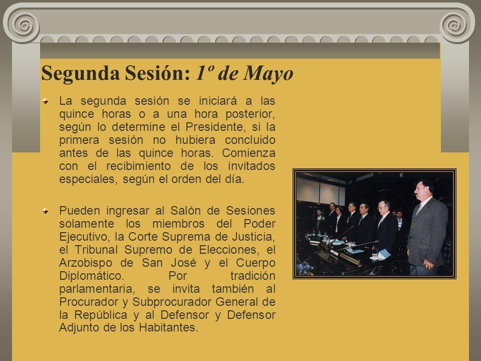 Segunda Sesión: 1º de Mayo