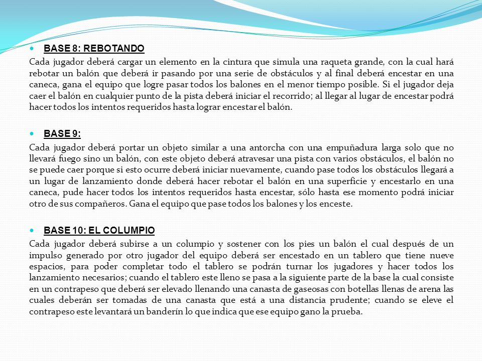 BASE 8: REBOTANDO