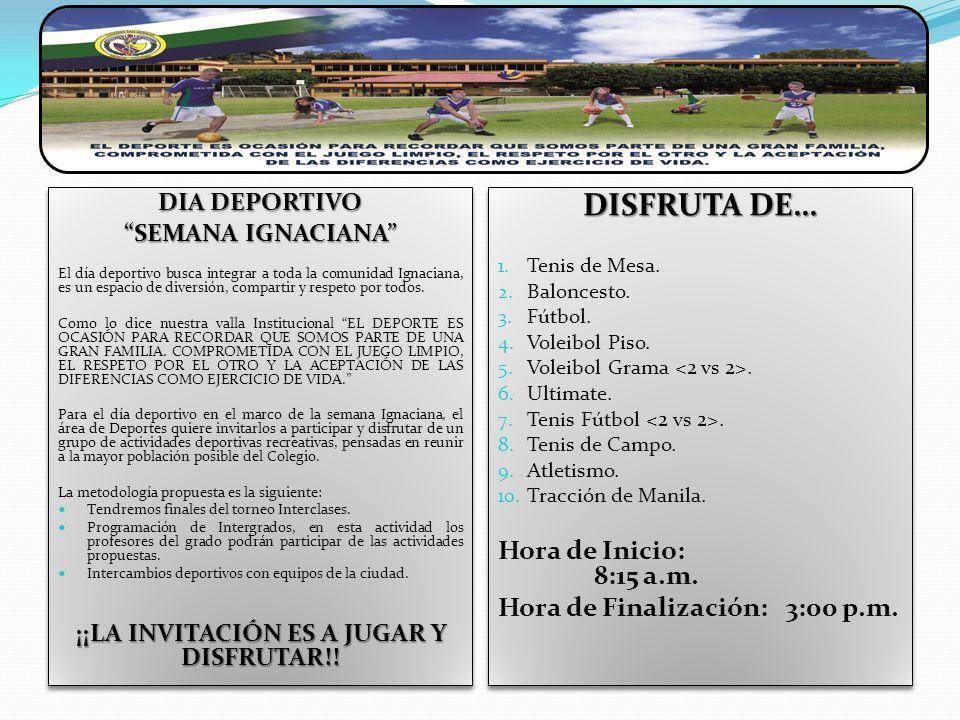 ¡¡LA INVITACIÓN ES A JUGAR Y DISFRUTAR!!