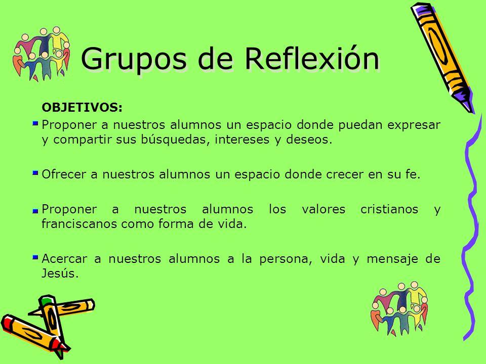 Grupos de Reflexión OBJETIVOS:
