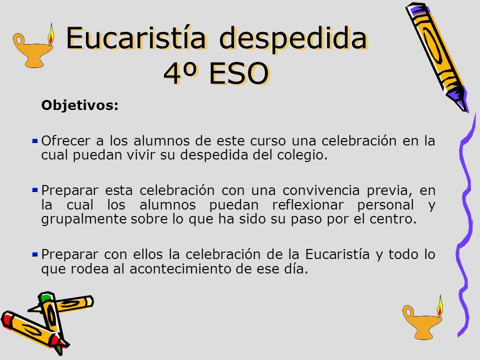 Eucaristía despedida 4º ESO