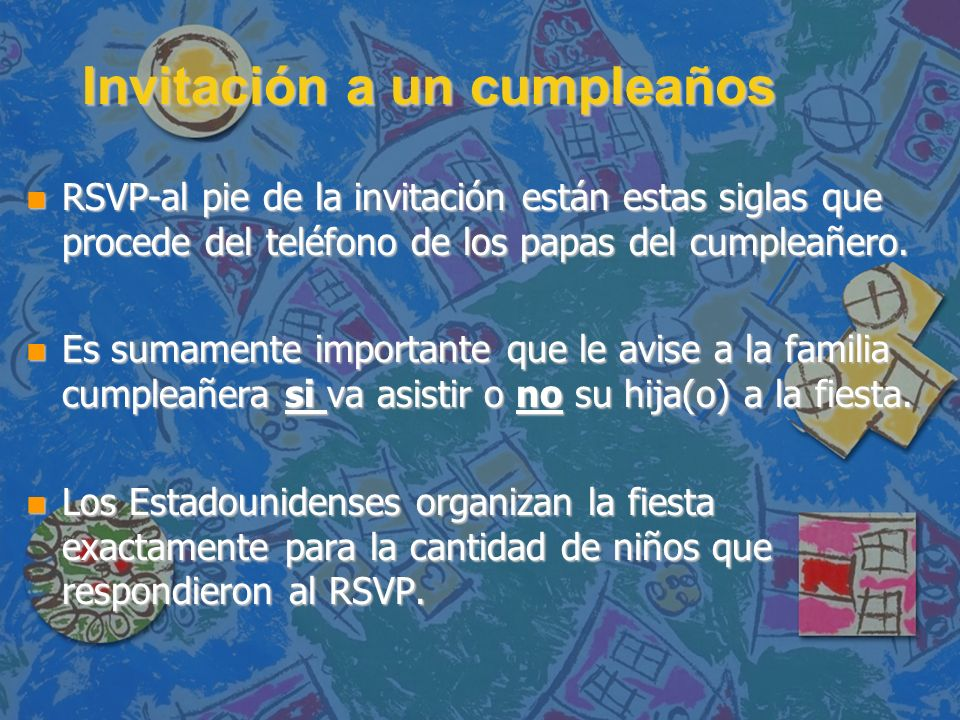 Invitación a un cumpleaños