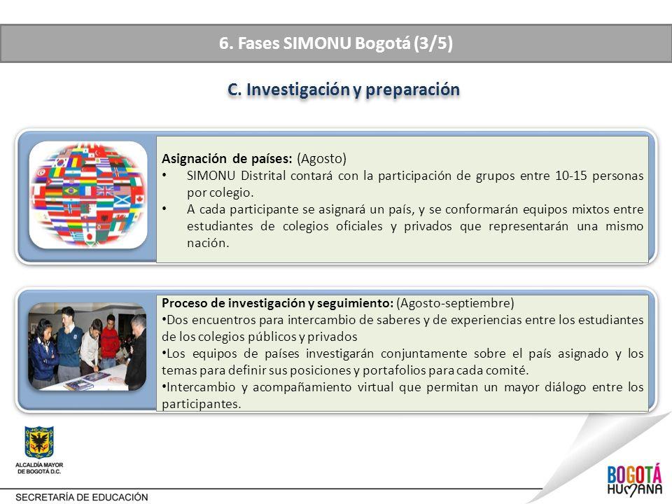 6. Fases SIMONU Bogotá (3/5) C. Investigación y preparación