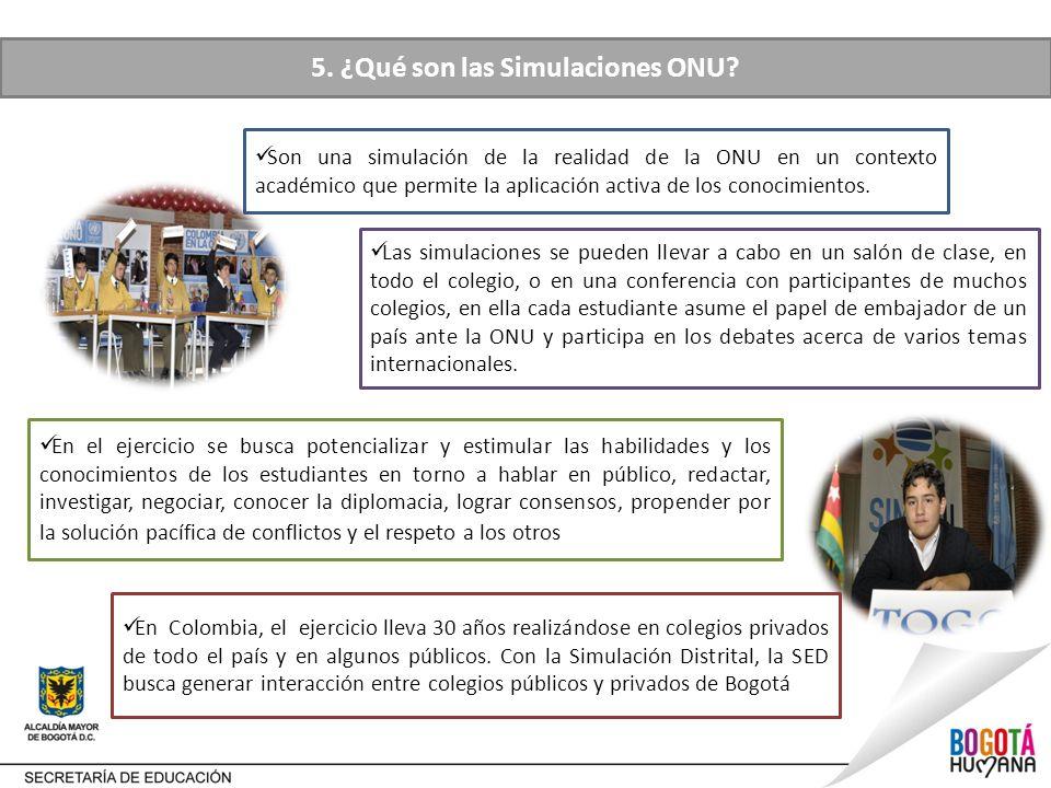 5. ¿Qué son las Simulaciones ONU