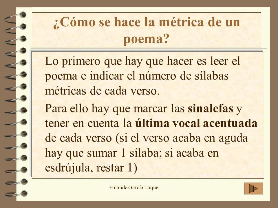 ¿Cómo se hace la métrica de un poema
