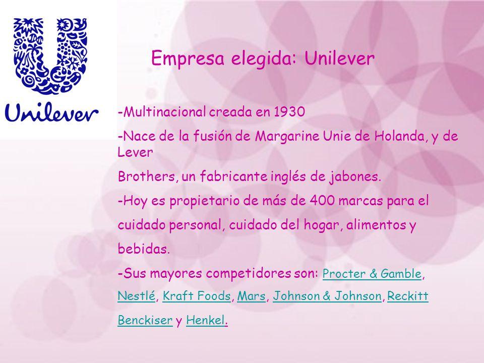 Empresa elegida: Unilever
