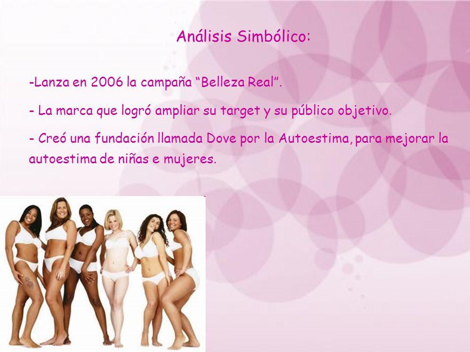 Análisis Simbólico: Lanza en 2006 la campaña Belleza Real .
