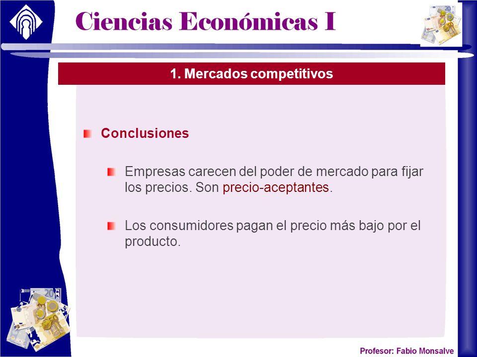 1. Mercados competitivos