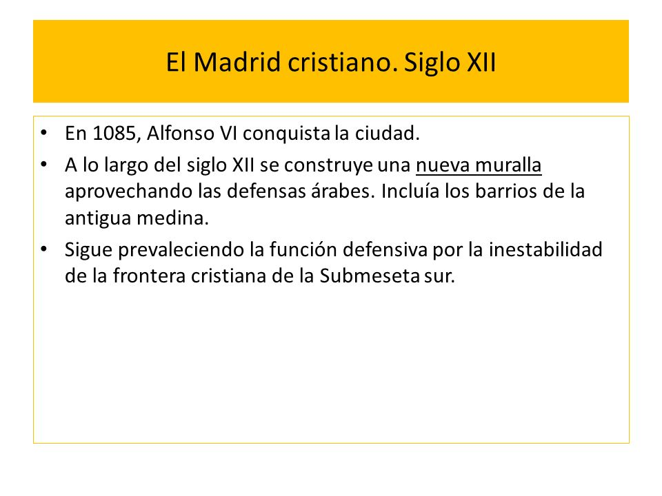 El Madrid cristiano. Siglo XII