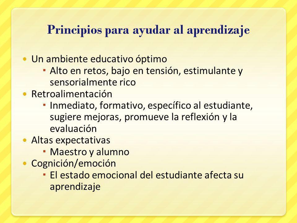 Principios para ayudar al aprendizaje