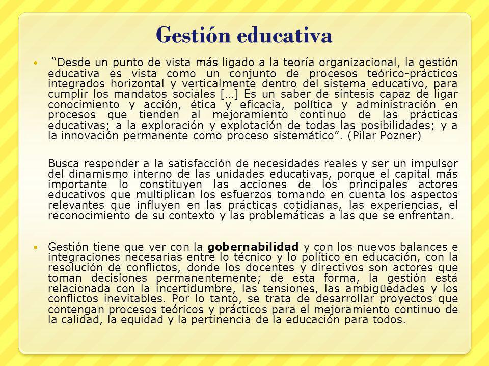 Gestión educativa