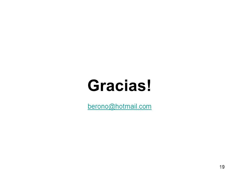 Gracias! berono@hotmail.com