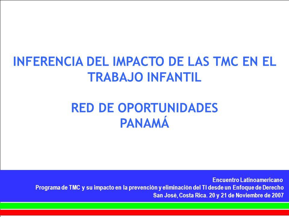 INFERENCIA DEL IMPACTO DE LAS TMC EN EL TRABAJO INFANTIL